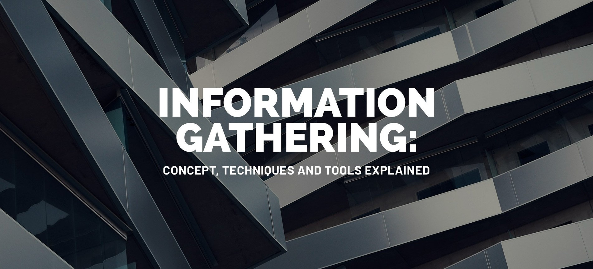 Information Gathering: Concept, Techniques and Tools explained.