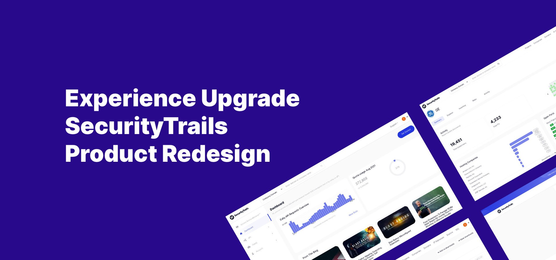 Experience Upgrade: SecurityTrails Product Redesign.