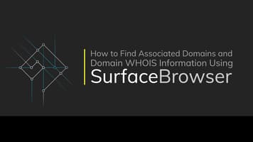 How to Find Associated Domains and Domain WHOIS Information Using SurfaceBrowser™