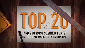 Top 20 and 200 most scanned ports in the cybersecurity industry