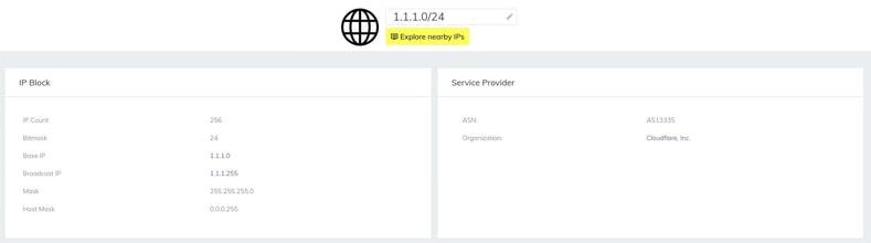 SurfaceBrowser™ CloudFlare's IP range