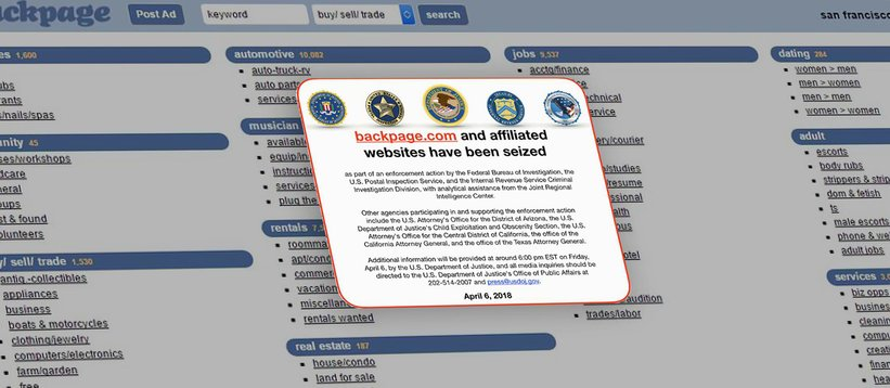 Backpage.com Seizure and What Happens to Seized Domains.