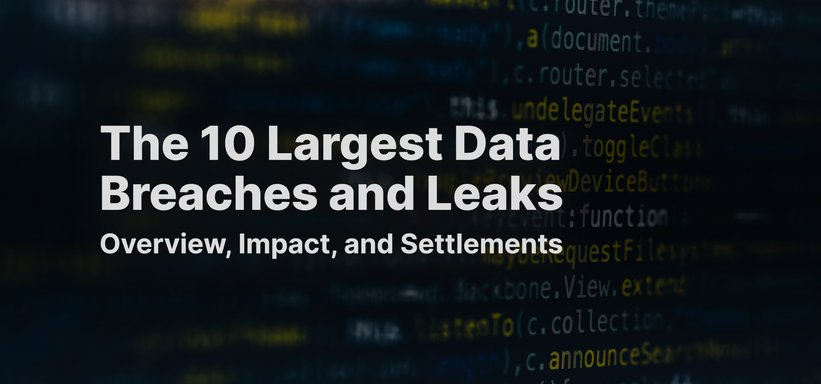 The 10 Largest Data Breaches and Leaks: Overview, Impact and Settlements.