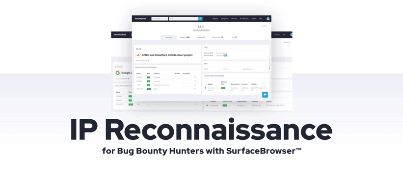 IP Reconnaissance for Bug Bounty Hunters with SurfaceBrowser™.