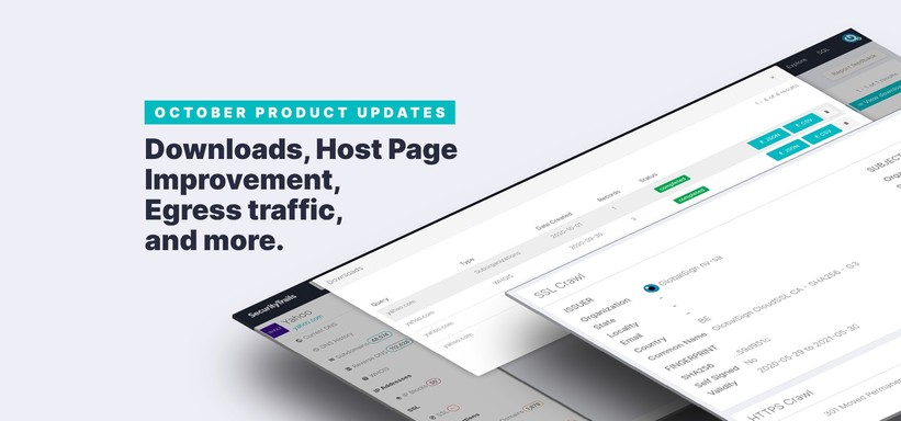 October Product Updates: Downloads, Host Page Improvement, Egress traffic, and more..