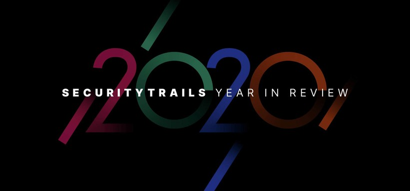 SecurityTrails Year in Review 2020.